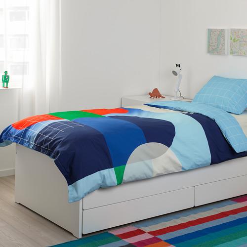 SLÄKT gultas rāmis ar apakšr. un m.glab.