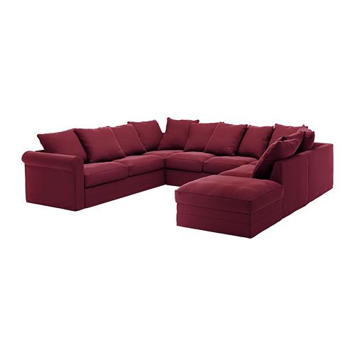 GRÖNLID šešiavietės U sofos užvalkalas