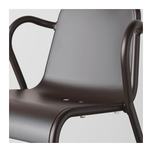 TUNHOLMEN lauko stalas ir 2 kėdės