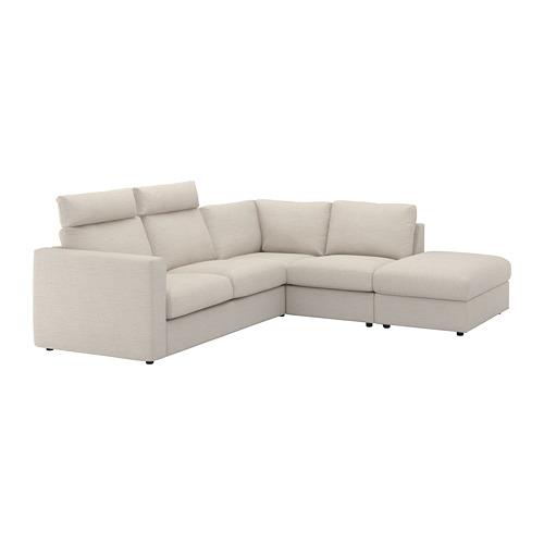 VIMLE kampinė keturvietė sofa