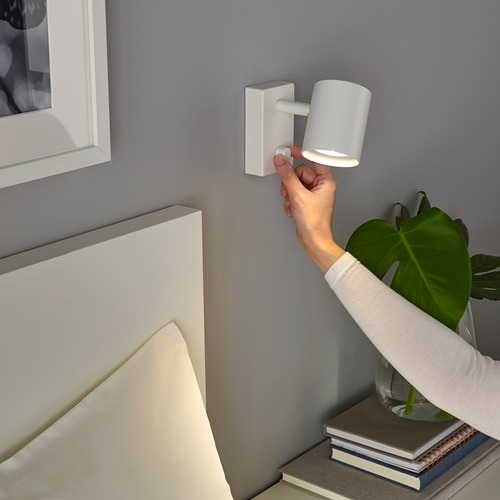 NYMÅNE wall/reading lamp, wired-in inst