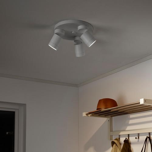 NYMÅNE ceiling spotlight with 3 spots