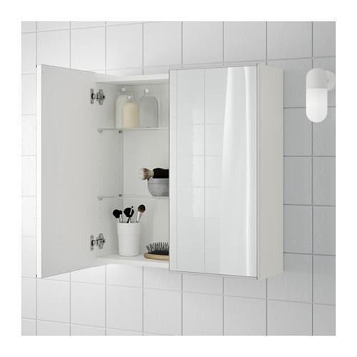 LILLÅNGEN dvidurė spintelė su veidrodžiu