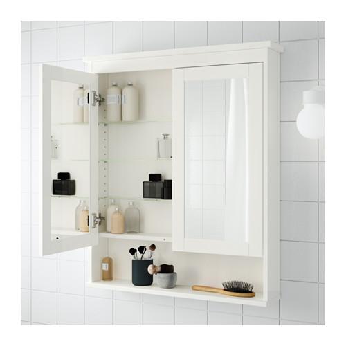 HEMNES dvidurė spintelė su veidrodžiu