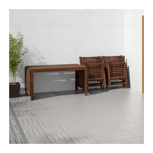 ÄPPLARÖ galds+4 regul. krēsli, āra