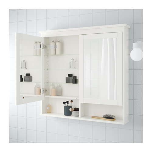 HEMNES зеркальный шкаф с 2 дверцами