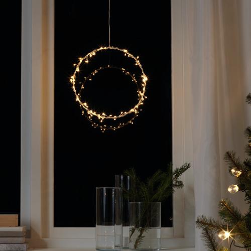 STRÅLA LED iekaramā lampa, 27 cm , darbojas ar baterijām/gredzena formas