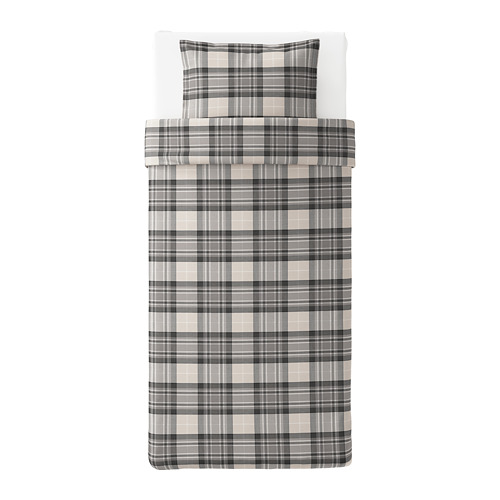 SMALRUTA quilt cover and pillowcase