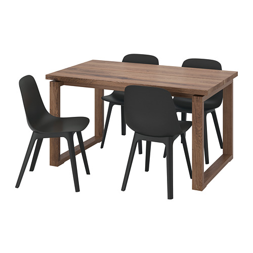 ODGER/MÖRBYLÅNGA table and 4 chairs
