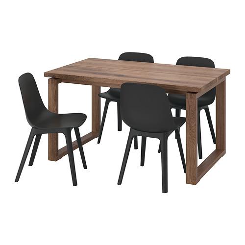 ODGER/MÖRBYLÅNGA galds un 4 krēsli
