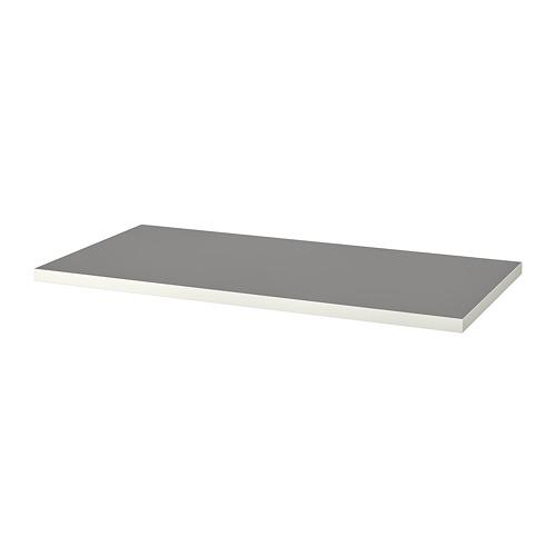LINNMON galda virsma, gaiši pelēkā krāsā/baltā krāsā, 120x60 cm