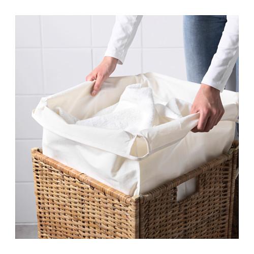 BRANÄS skalbinių krepšys su pamušalu