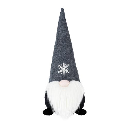 VINTER 2020 rotājums, 35cm, Ziemassvētku vecītis pelēkā krāsā
