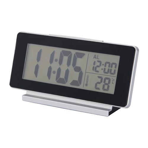 FILMIS daudzfunkc. pulkstenis, 16.5x4x9 cm melnā krāsā