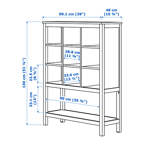 HEMNES storage unit