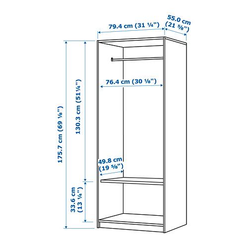 KLEPPSTAD skapis ar 2 durvīm