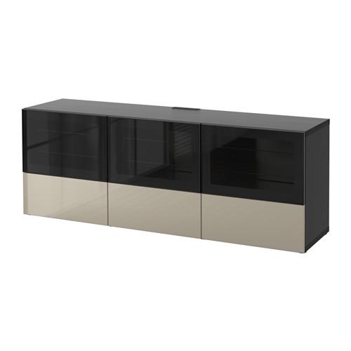 BESTÅ TV staliukas su durelėmis/stalčiais