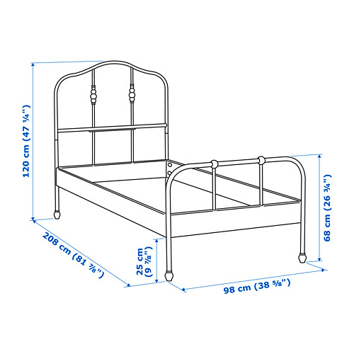 SAGSTUA bed frame