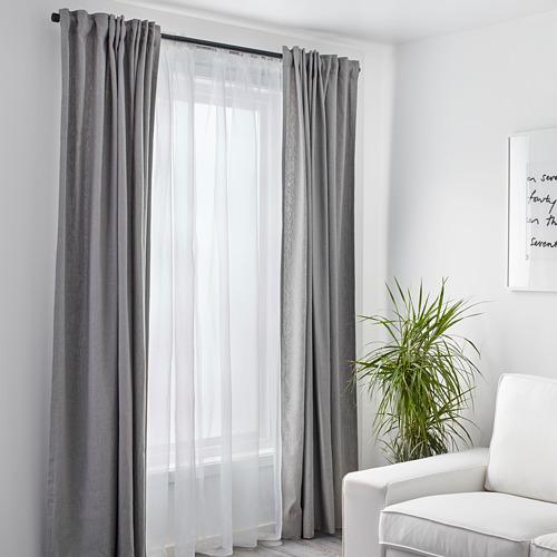 TERESIA sheer curtains, 1 pair