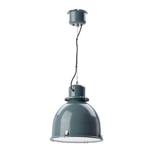 SVARTNORA iekaramā griestu lampa, tirkīzpelēka,   40 cm