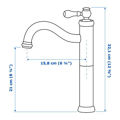 HAMNSKÄR wash-basin mixer tap, tall