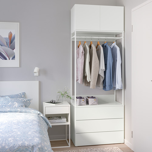PLATSA wardrobe with 2 doors+3 drawers