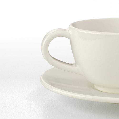VARDAGEN coffee cup and saucer
