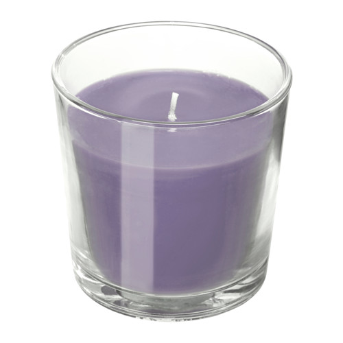 SINNLIG smaržīgā svece stikla traukā