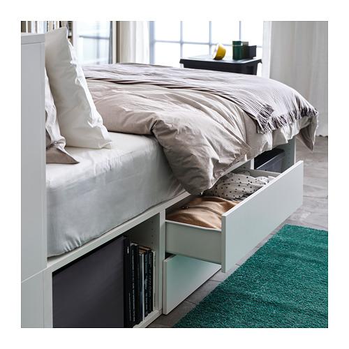PLATSA lovos rėmas su 2 stalčiais