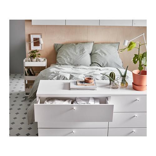 PLATSA lovos rėmas su 10 stalčių
