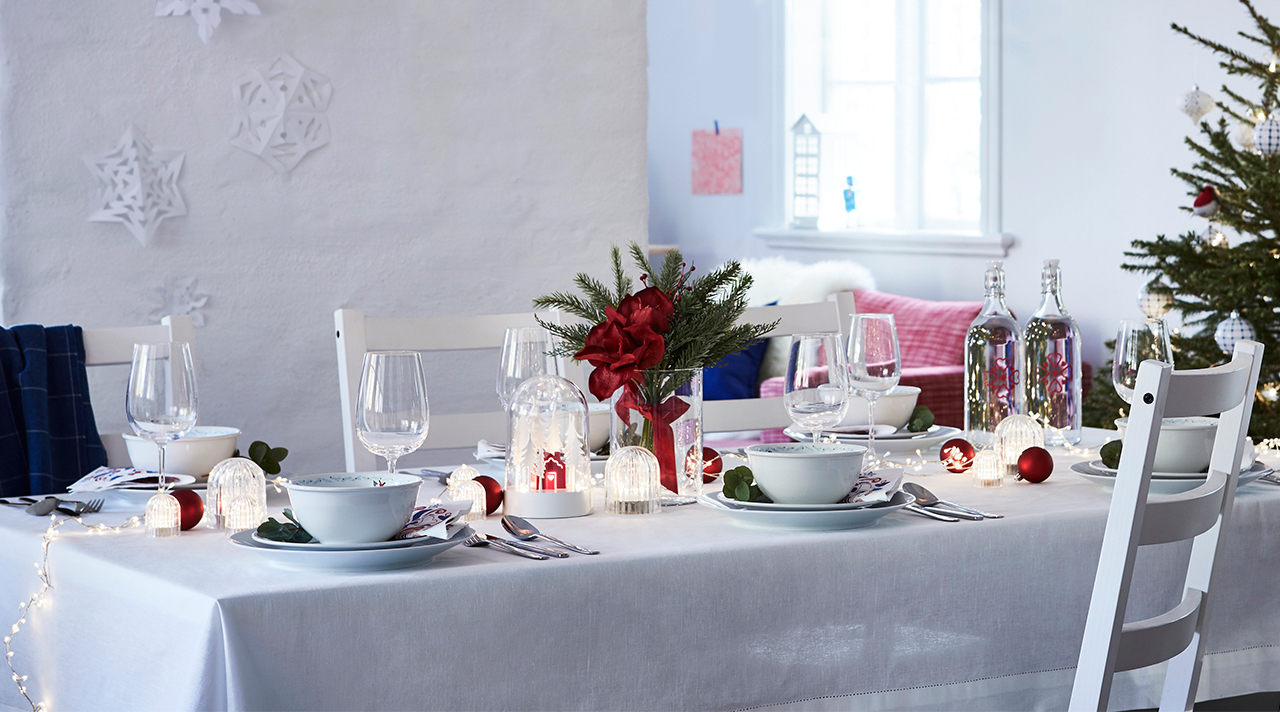 A table set for the holidays