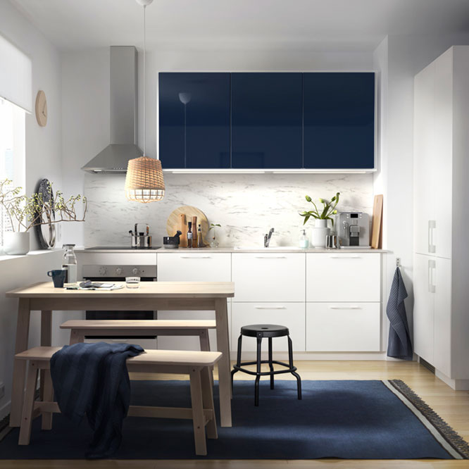 The small yet sleek kitchenette for a couple