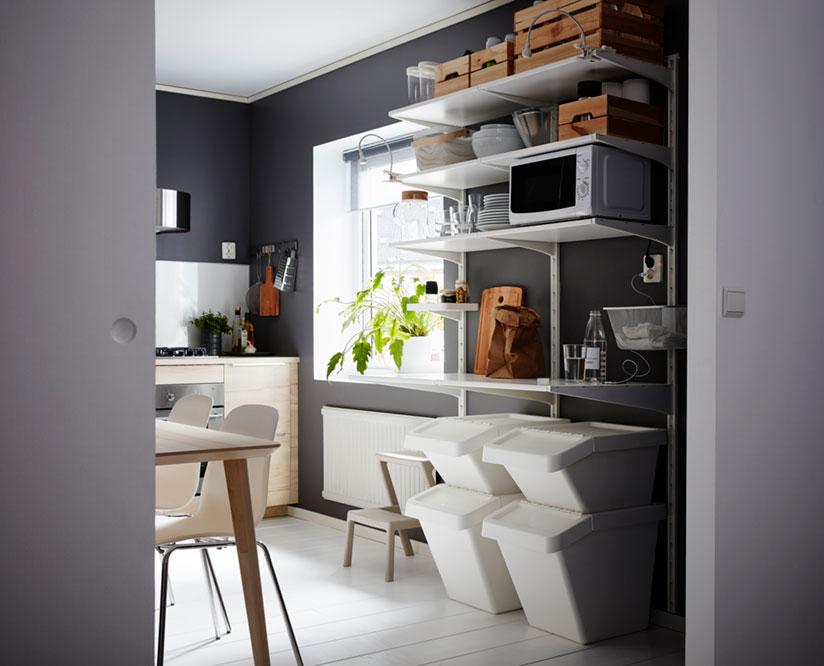 Poros virtuvė: patogu rūšiuoti ir sandėliuoti