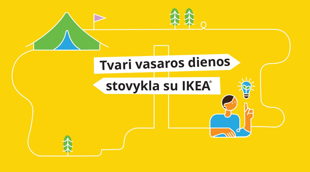 Tvari vasaros dienos stovykla su IKEA