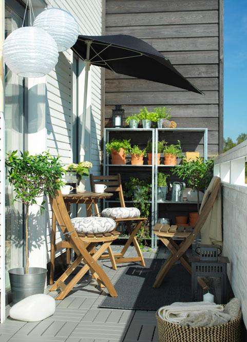 A balcony for an elderly couple