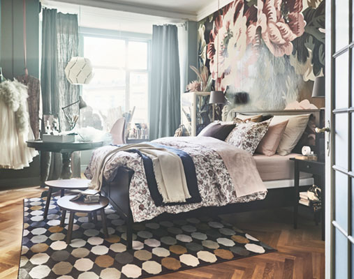An inspiring bedroom for a costume designer