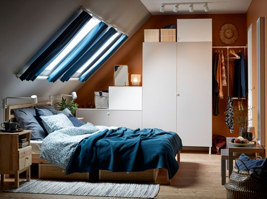 Odd space challenge: a bedroom in the attic