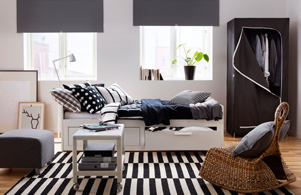 How to furnish one-room apartment for less?