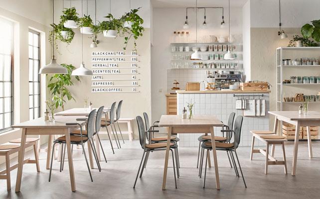 Skandinaviško stiliaus darbuotojų kavinė