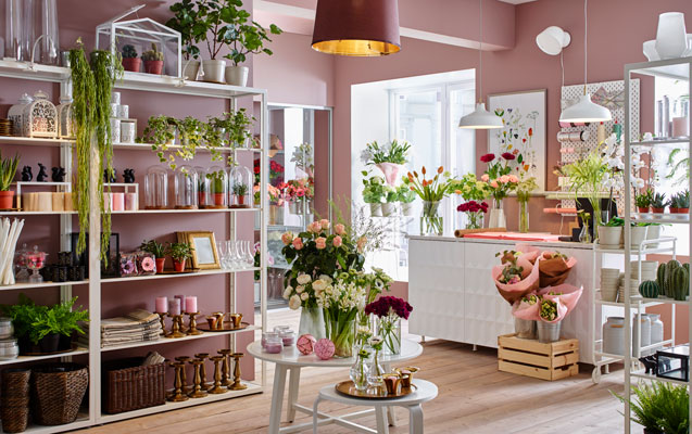A cosy flower shop interior