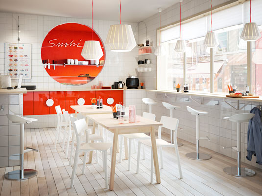 Modern solutions for a sushi restaurant