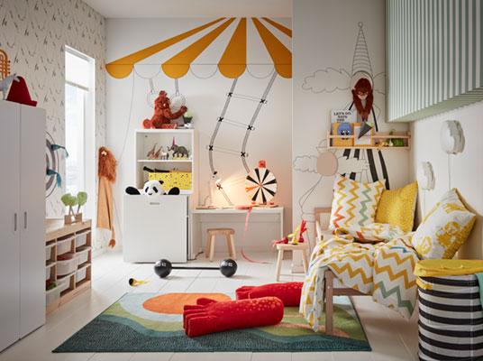 Vaizduotę lavinantis vaikų kambarys