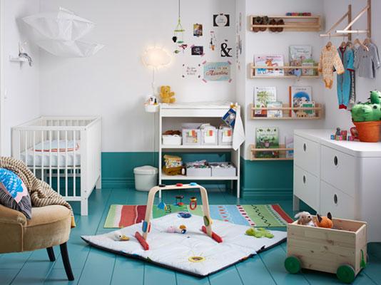 A modern style baby nursery