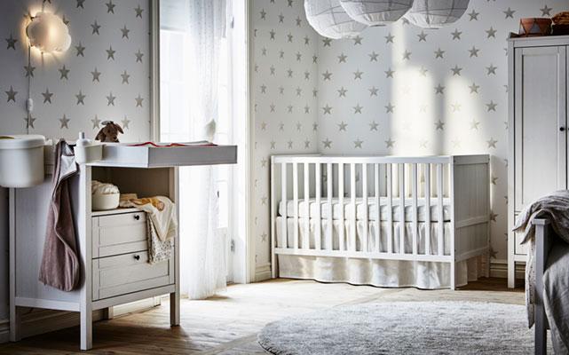 Skandinaviško stiliaus vaikų kambarys