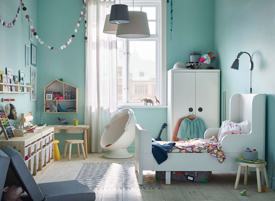 A child's room that grows up together