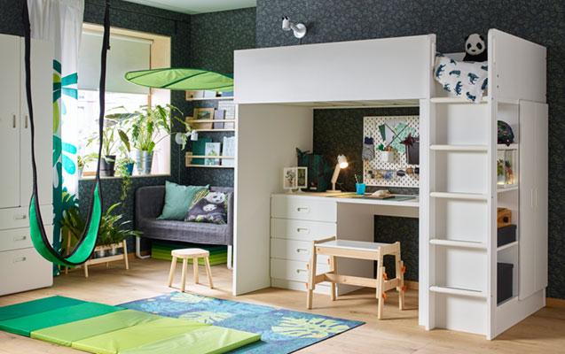 Vienas kambarys žaidimams ir namų darbams