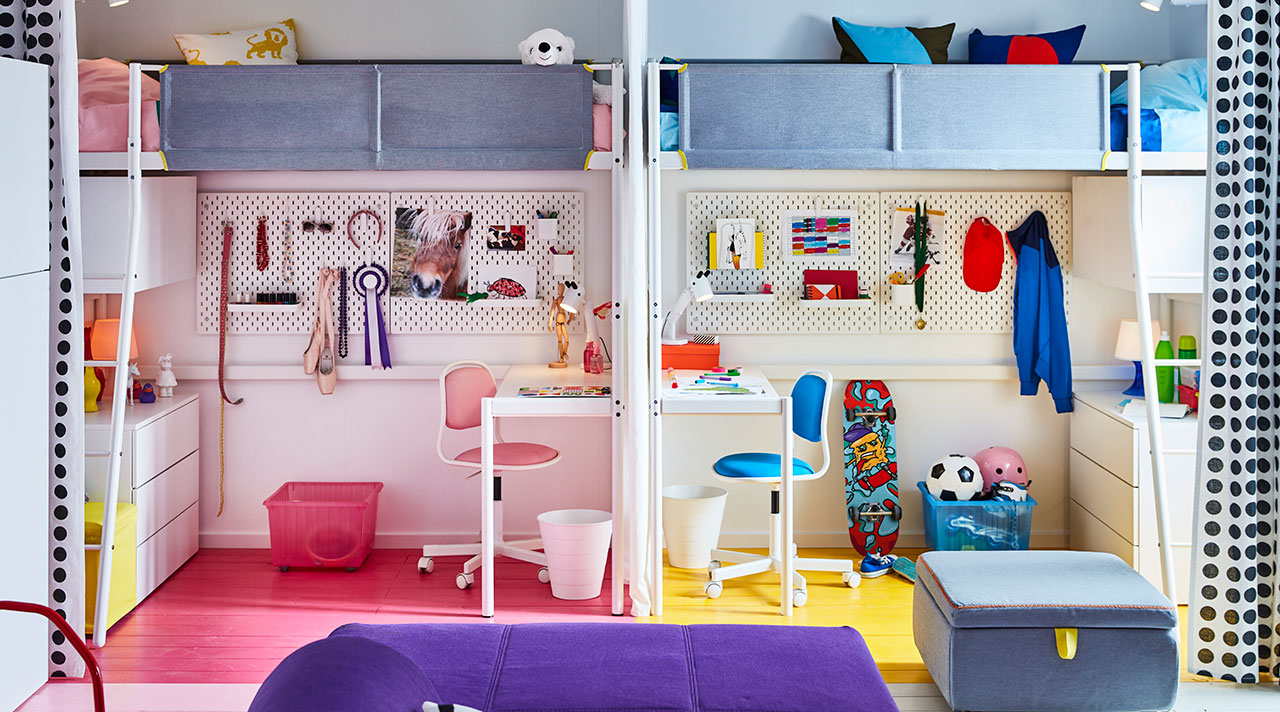 Back to school: a living room, bedroom and children's room in one