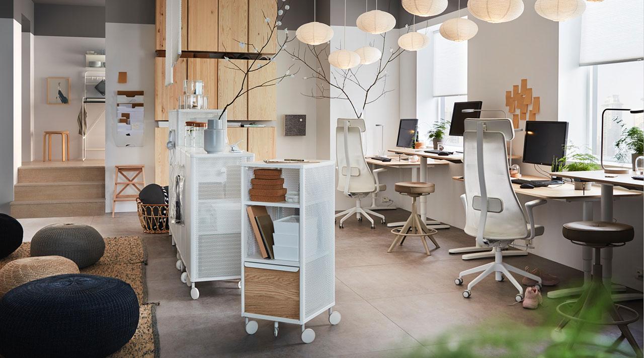 Įkvepiantis biuras akimirksniu: idėjos ir sprendimai