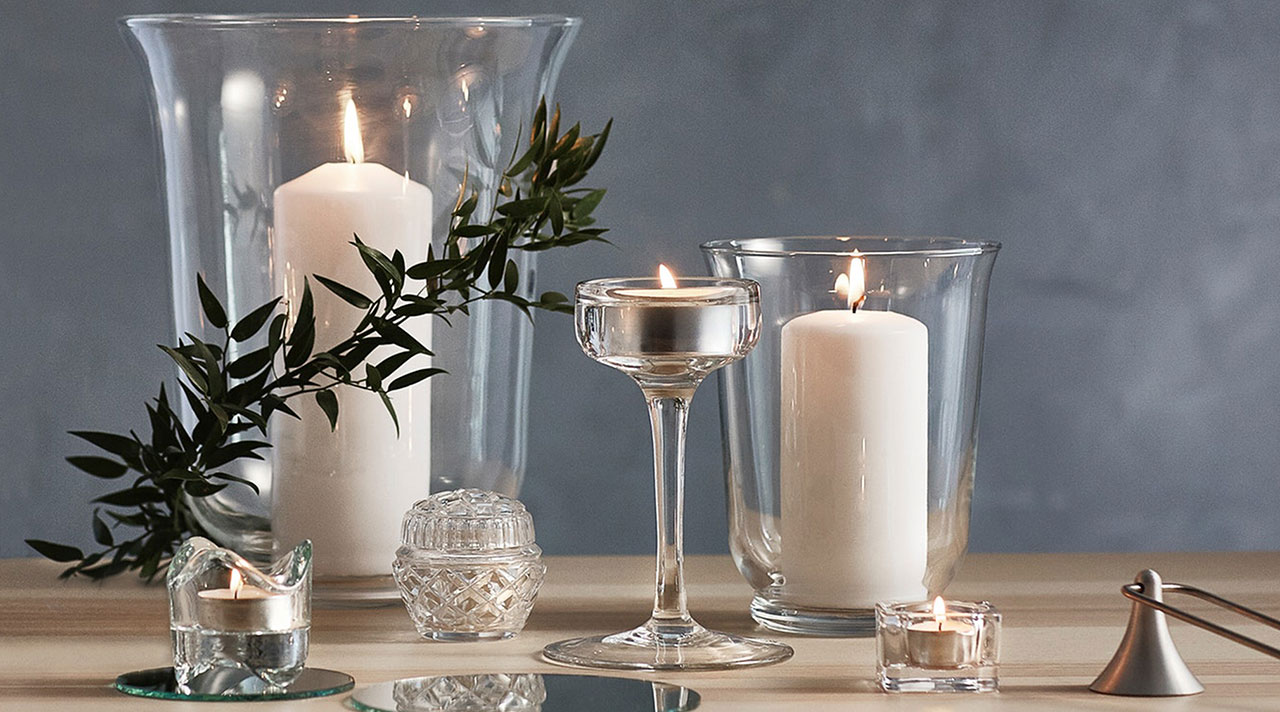 Light a candle for calm and cosiness at home