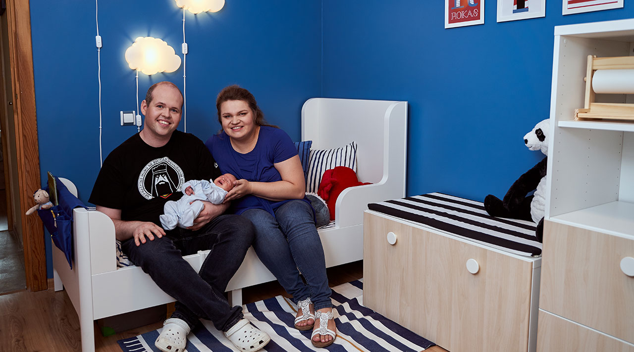 """Home idea with IKEA"": a new room for a new family member"